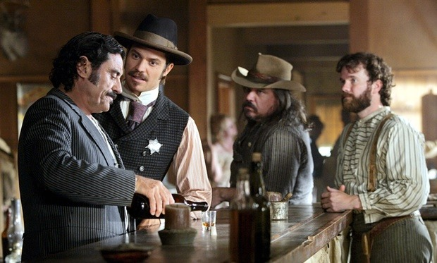 One more shot … Deadwood starring Ian McShane, Timothy Olyphant, W Earl Brown and Sean Bridgers. Photograph: HBO/Everett/Rex Features