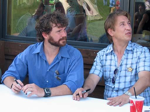 Deadwood in Deadwood 2005, Sean Bridgers and Pasha Lychnikoff signing autographs at Tatanka